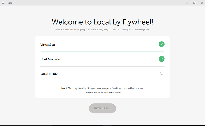 Fresh install on windows 10 - Support - Local by Flywheel