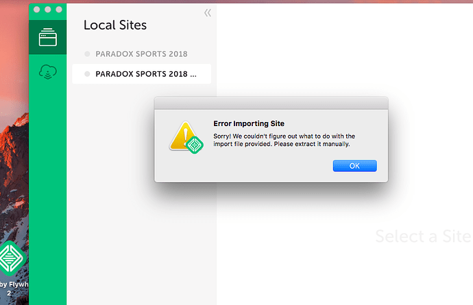 Error Importing Files - Support - Local by Flywheel