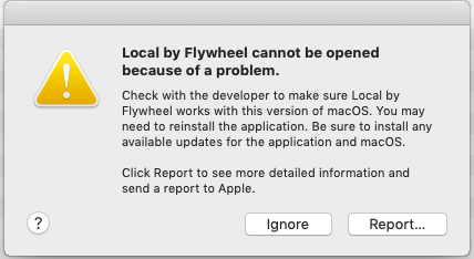 Can't start Local 3 0 1 and 3 0 2 - Support - Local by Flywheel
